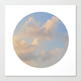 Painterly Clouds Canvas Print