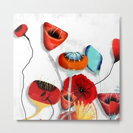 Ranunculus Poppies Anemone Bouquet Metal Print