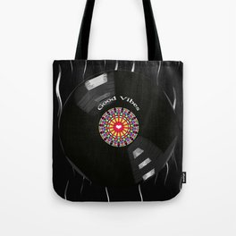 Good Vibes - For vinyl records music lover Tote Bag