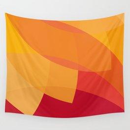 orange color burst Wall Tapestry