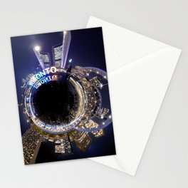 Toronto City Hall Tiny planet! Stationery Cards