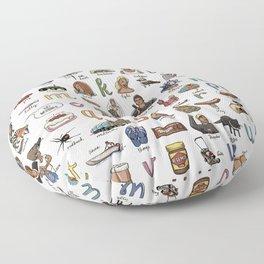The Australian Alphabet Floor Pillow