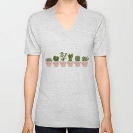 Cacti & Succulents Unisex V-Neck