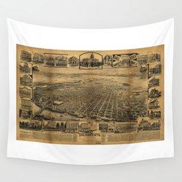 Aerial View of Sacramento, California (circa 1890) Wall Tapestry