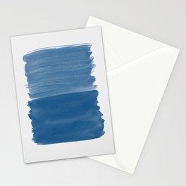 Classic Blue Abstract Minimalism #1 #minimal #ink #decor #art #society6 Stationery Cards