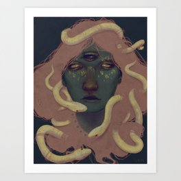 of witches and pets Art Print