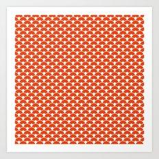 Dragon Scales Tangerine  Art Print