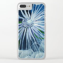 Dandelion Space Oddity Clear iPhone Case