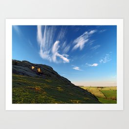 At Almscliff Crag Art Print