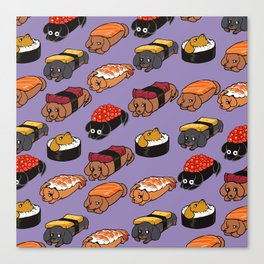 Sushi Daschunds Canvas Print