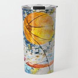 Basketball Art Travel Mug