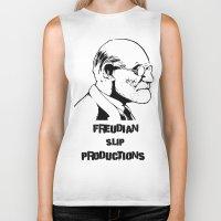 freud Biker Tanks featuring Freud by Freudian Slip Producions