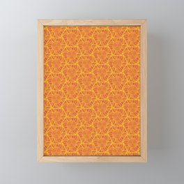 Orange Slice Radiation Framed Mini Art Print