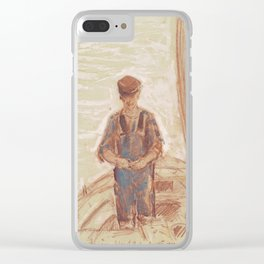 Fisherman, Isle of Shoals 1903 by Childe Hassam Clear iPhone Case