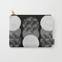 Geometric Circles in B&W Carry-All Pouch
