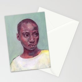 Oil painting - Girl Portrait #2 Stationery Cards