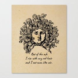 Sylvia Plath - Lady Lazarus Canvas Print