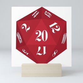 Red 20-Sided Dice Mini Art Print