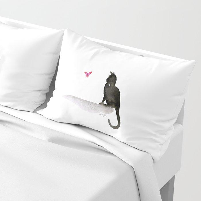 I Love Cats No.4 by Kathy Morton Stanion Pillow Sham