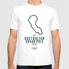 2013 Australian Grand Prix LARGE Mens Fitted Tee White