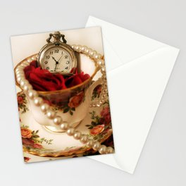 Time For Tea & Pearls!  Stationery Cards