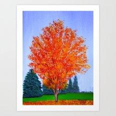 Fall tree in ND Art Print