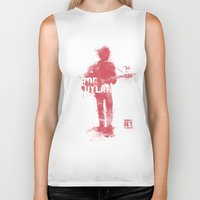 bob dylan Biker Tanks featuring Bob Dylan by Never Looking Back