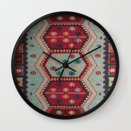V31 Traditional Colored Moroccan Carpet. Wall Clock