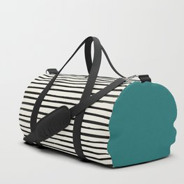 Teal x Stripes Duffle Bag