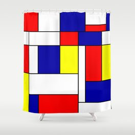 Mondrian #38 Shower Curtain