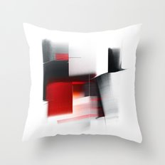 composition with black Throw Pillow
