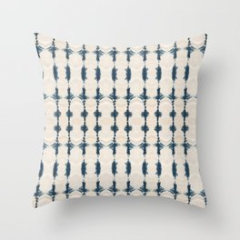 Shibori Movement in Indigo Throw Pillow