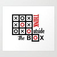 outside the box Art Print