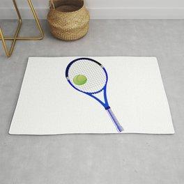 Tennis Racket And Ball Rug