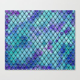 Mermaid Scales Watercolor Canvas Print