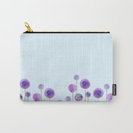 abstract purple onion flowers Carry-All Pouch