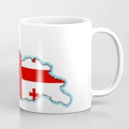 Georgia (Country) Map with Georgian Flag Coffee Mug