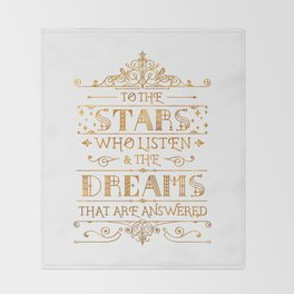 To the Stars - White Throw Blanket