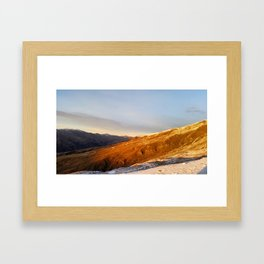 Cardrona Valley Rising Sun Framed Art Print