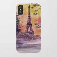 paris iPhone & iPod Cases featuring Paris by Anna Shell