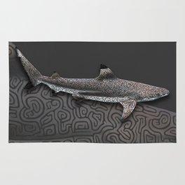 Blacktip reef shark Rug