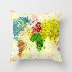 Different Continents Throw Pillow