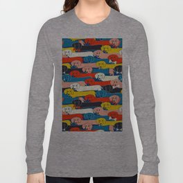 COLORED DOGS PATTERN 2 Long Sleeve T-shirt