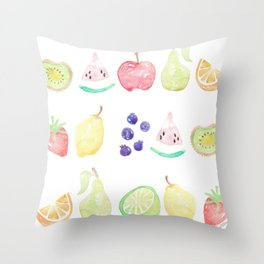 Fruit Smoothie Throw Pillow