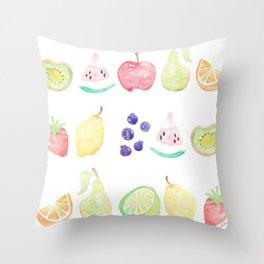 Fruit Smoothie Throw Pillow