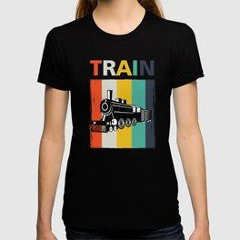 Railroad Railway Locomotive Public Transportation Vintage Style Train Gift T-shirt