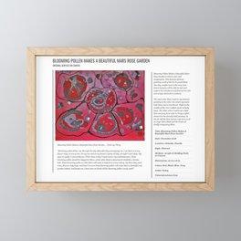 Blooming Pollen Makes A Beautiful Mars Rose Garden / Art Stories Framed Mini Art Print