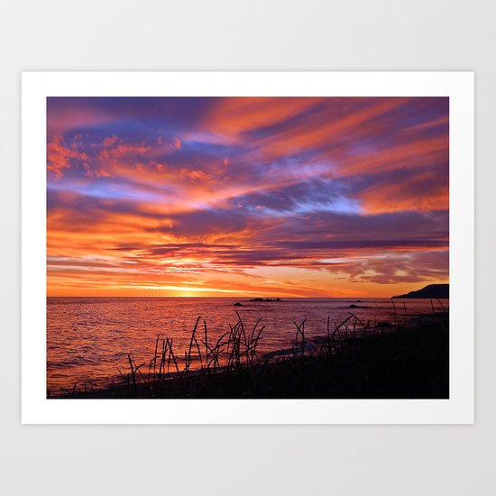 First Light at Sea Art Print