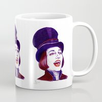 willy wonka Mugs featuring Wonka by Indigo East by ieIndigoEast