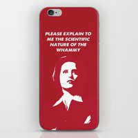 dana scully iPhone & iPod Skins featuring Dana Scully - Whammy by Laura